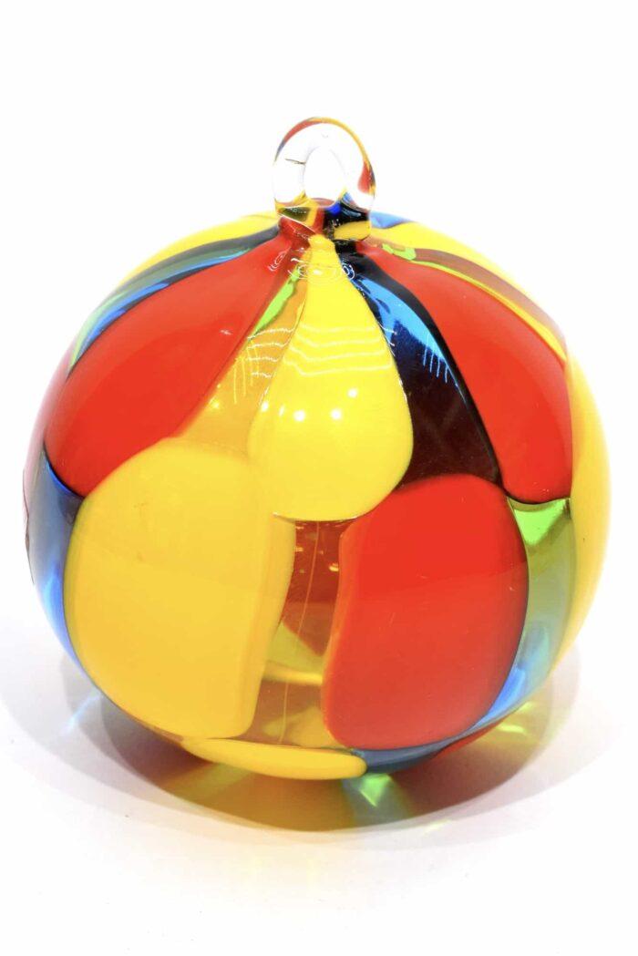 пятнистый елочный шар из муранского стекла