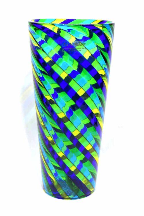 Vase mit filigranem Muranoglas