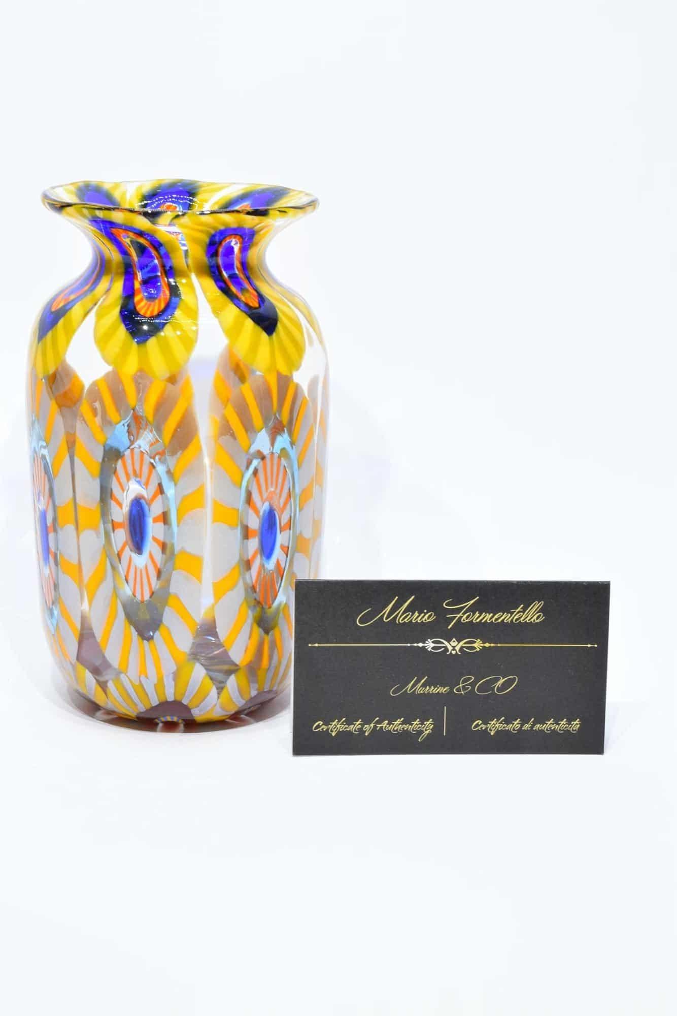 Murano Glass Murrine Vase (Art. 31727)