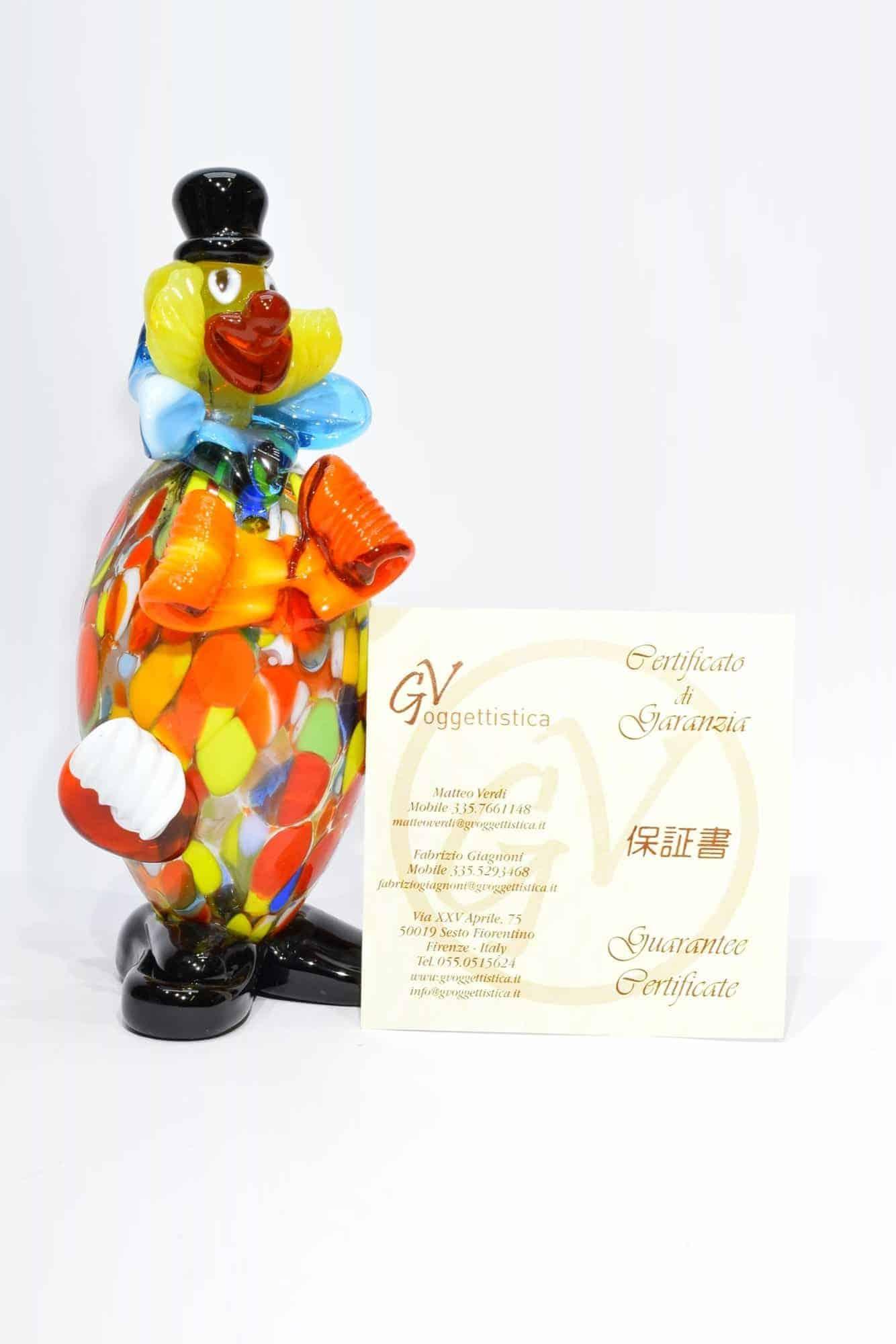 Клоун из муранского стекла - (Art.32816)