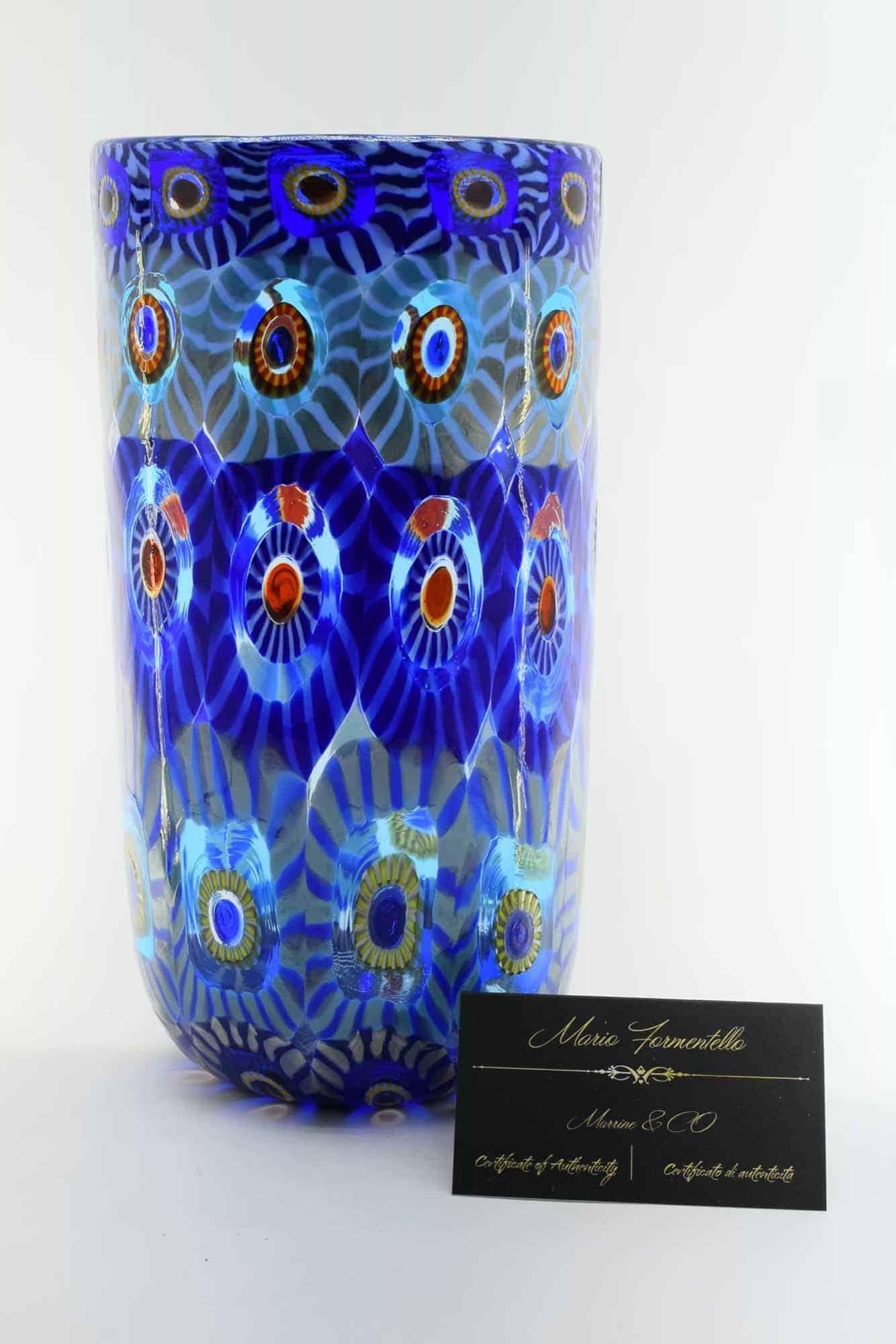 Murano Glass Murrine Vase (Art. 13317)