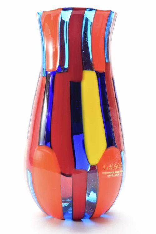 пятнистая ваза из муранского стекла