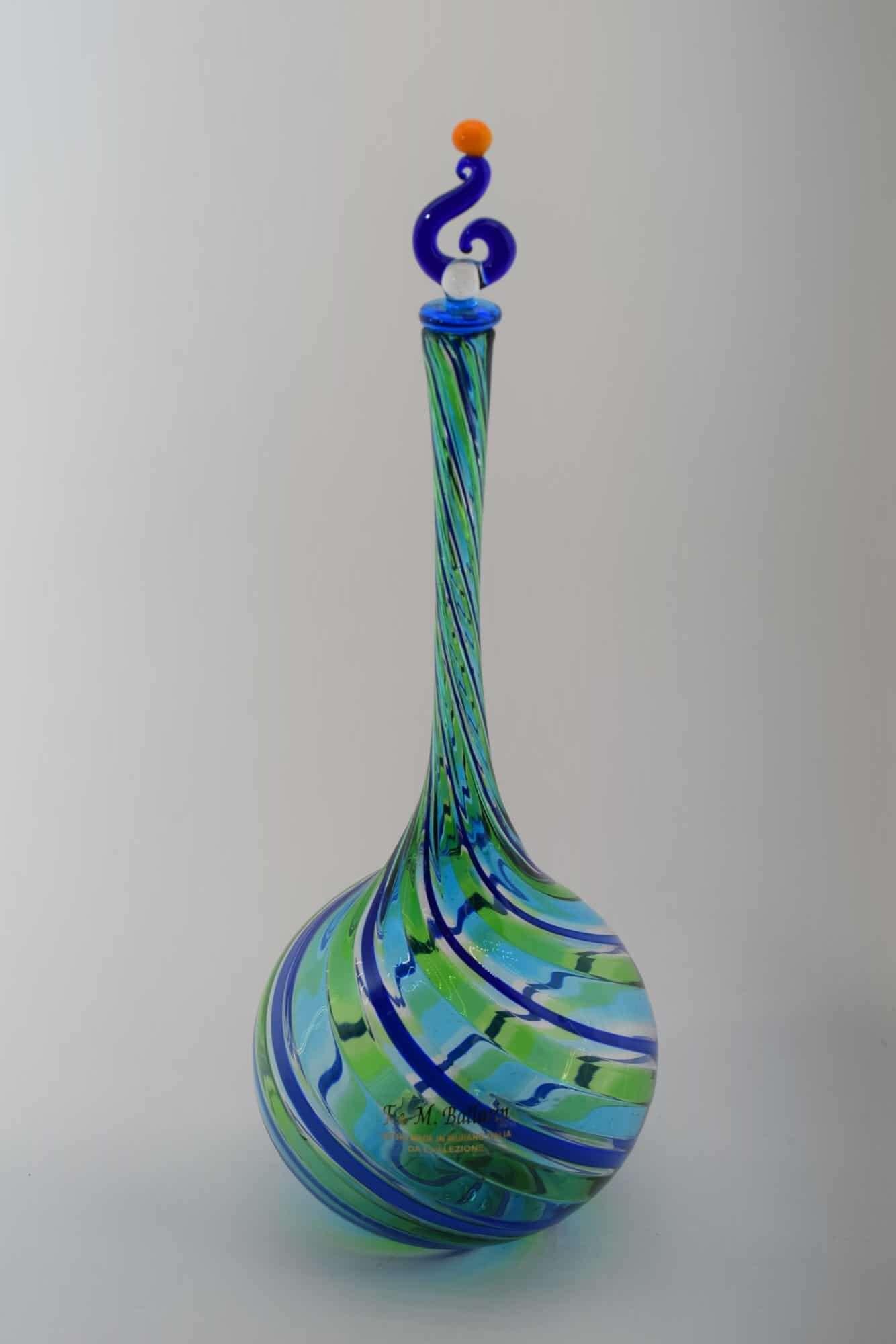 Филигранная бутылка из муранского стекла - (Art. 31638)