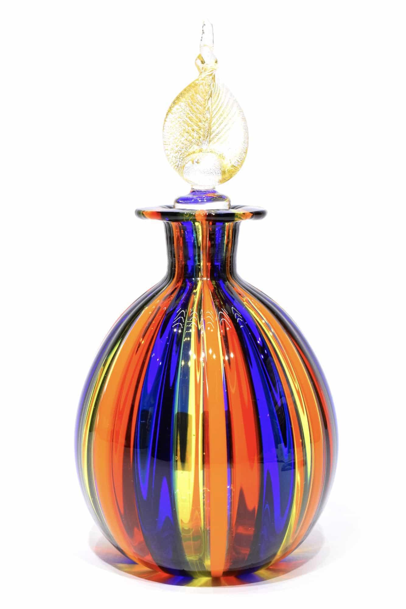 Бутылка из тростника из муранского стекла