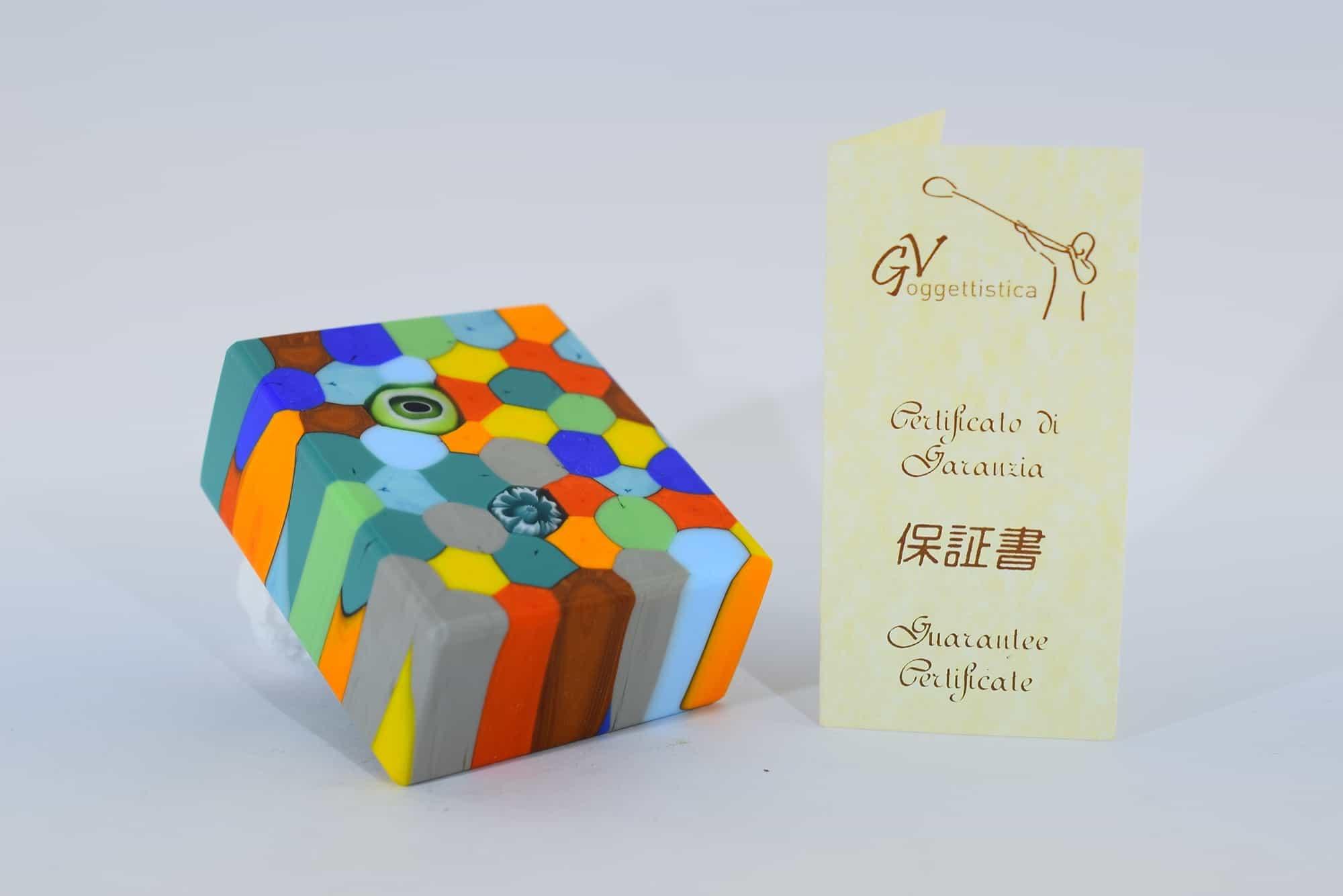 Пресс-папье из атласного муранского стекла - (Art. 4478)