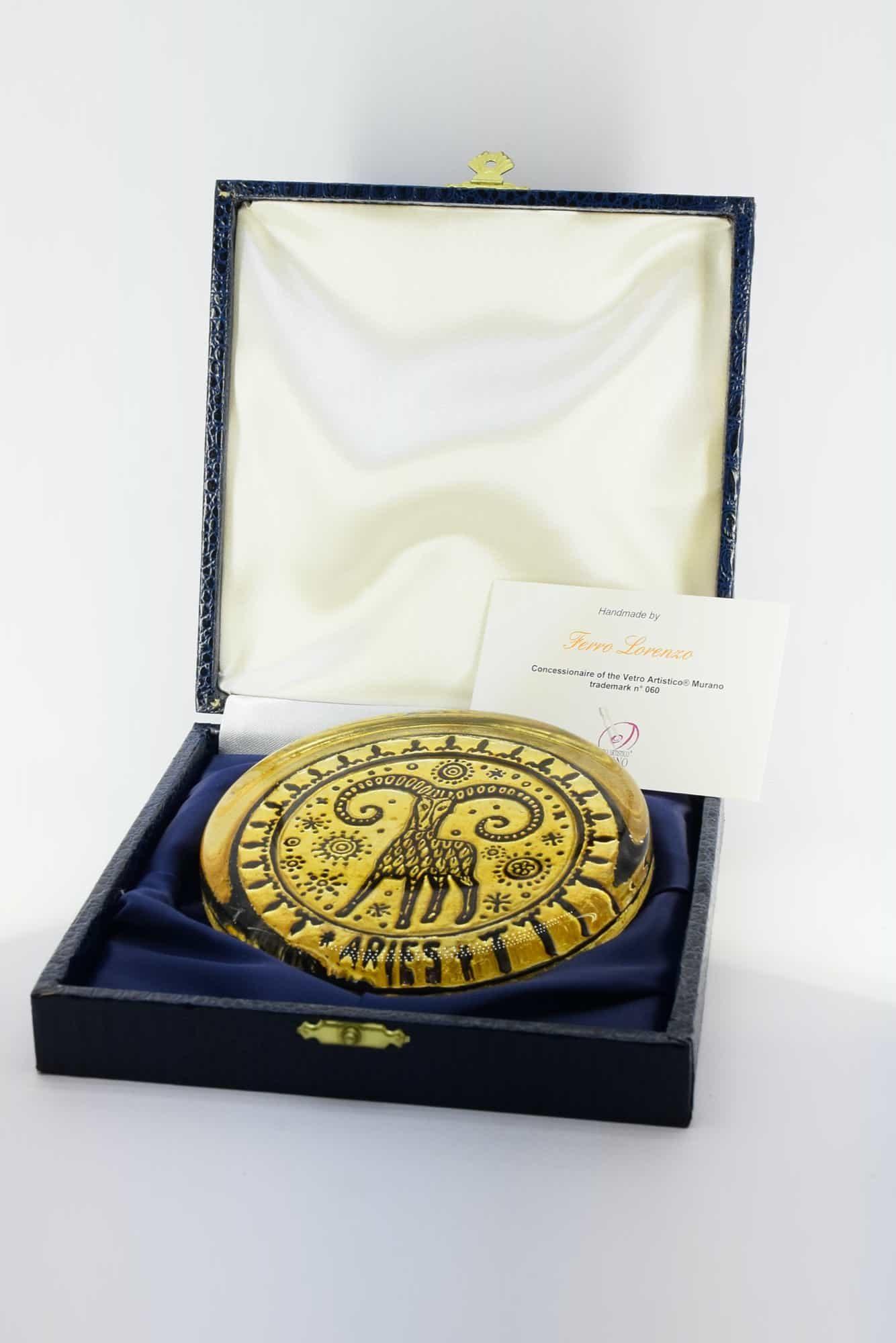 Murano Glass Zodiac Briefbeschwerer - (Art. 34830)