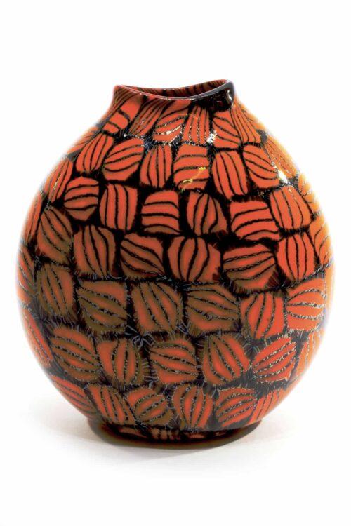einzigartige Vase aus Muranoglas