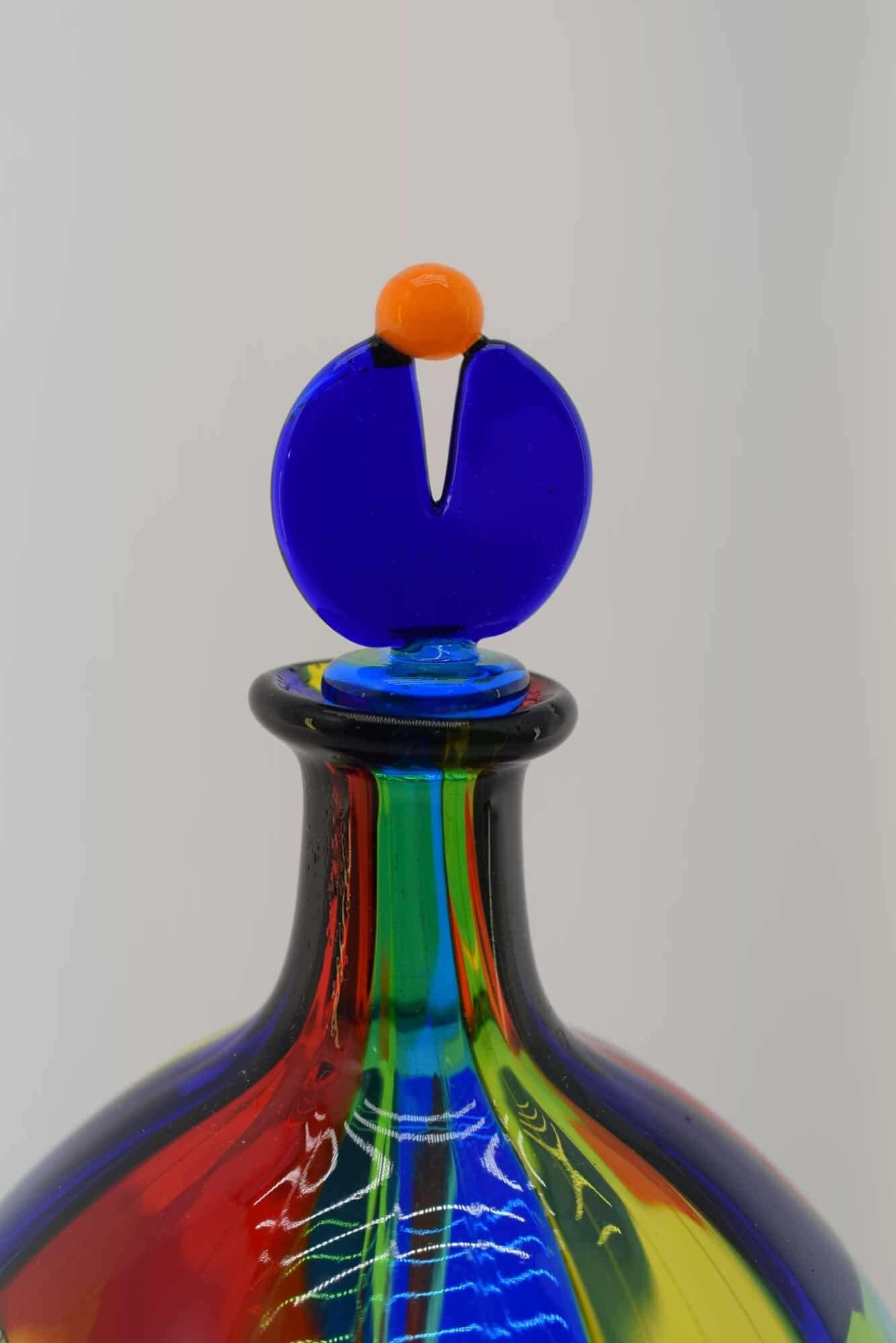 Gefleckte Flasche aus Muranoglas - (Art. 13533)