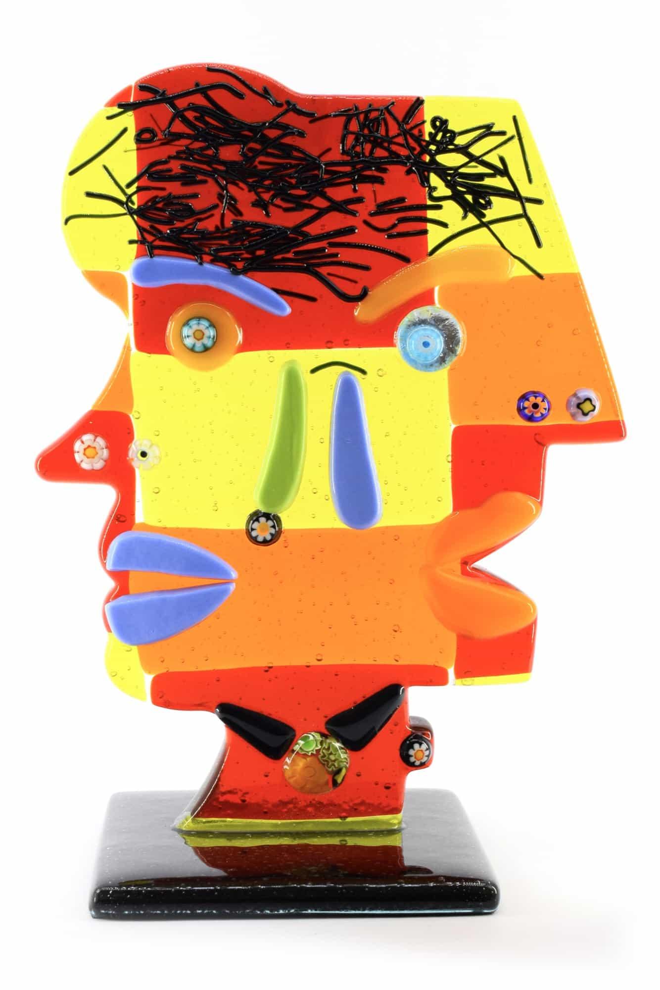 Скульптура головы Пикассо из муранского стекла