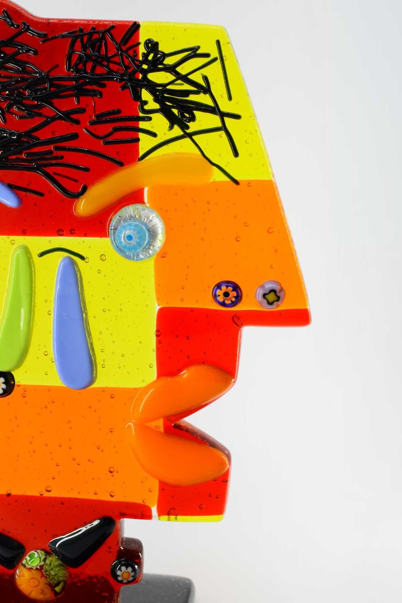 Скульптура Пикассо из муранского стекла - (Art. 8077)