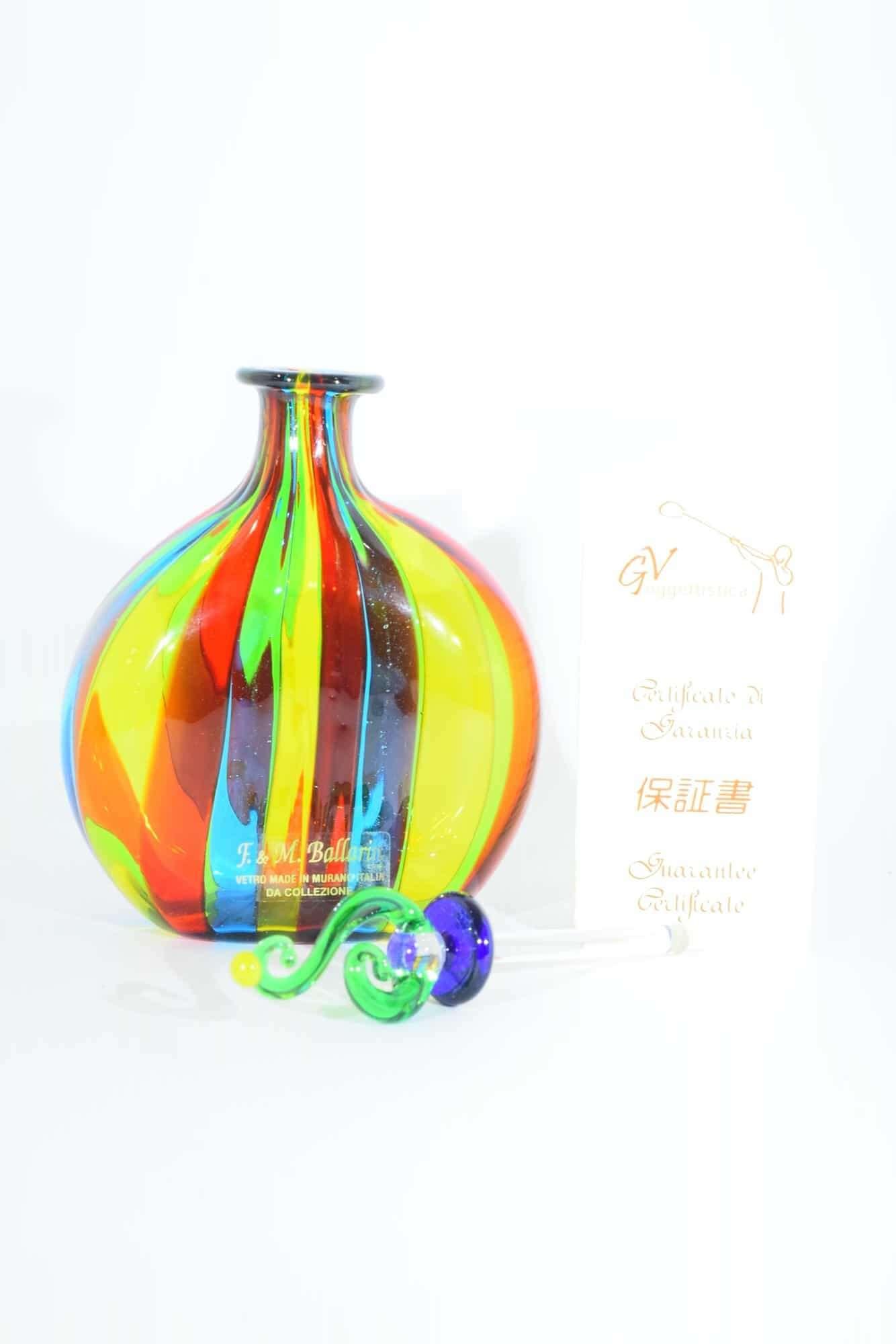 Murano Glas Reed Flasche - (Art. 31611)