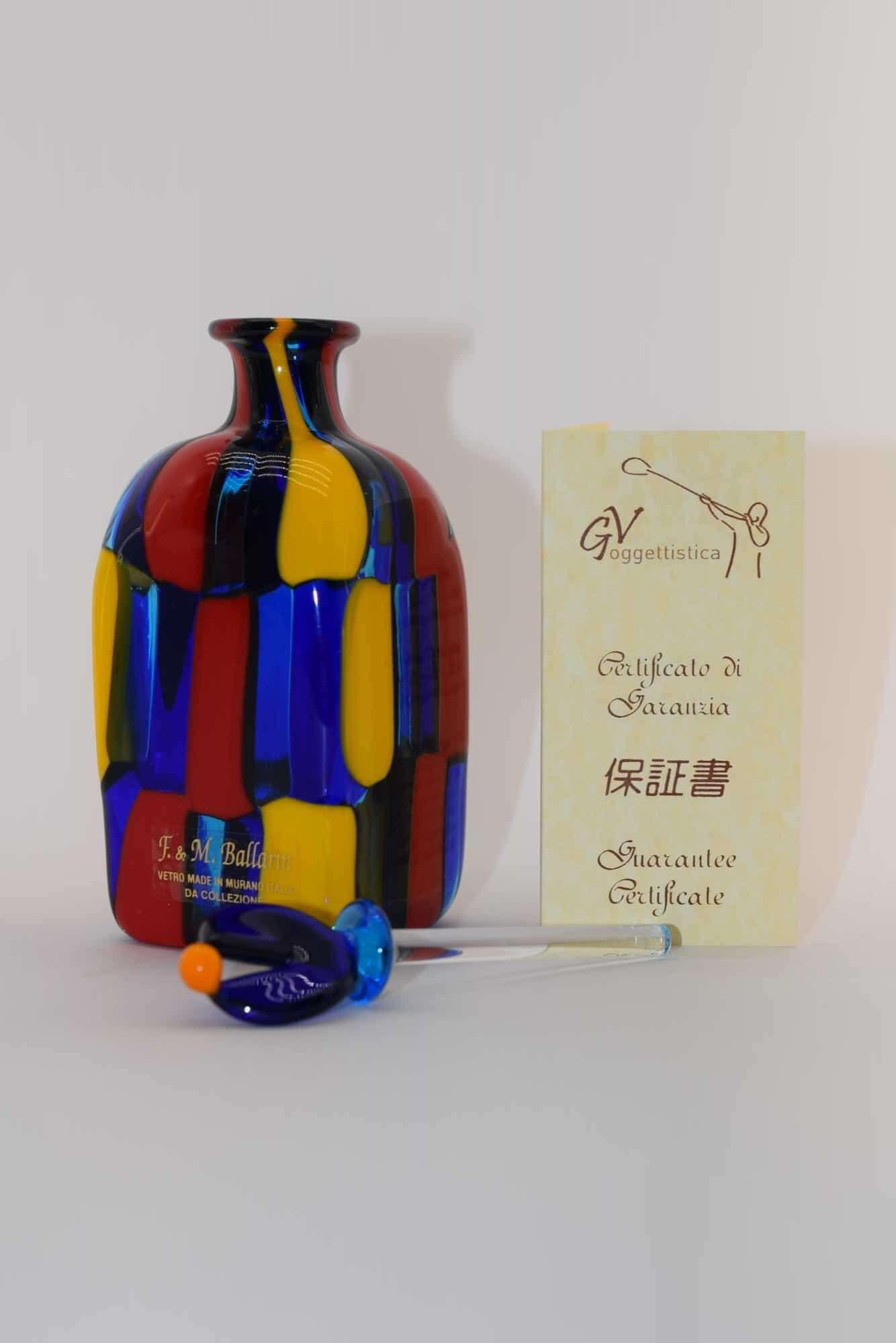Gefleckte Flasche aus Muranoglas - (Art. 11742)