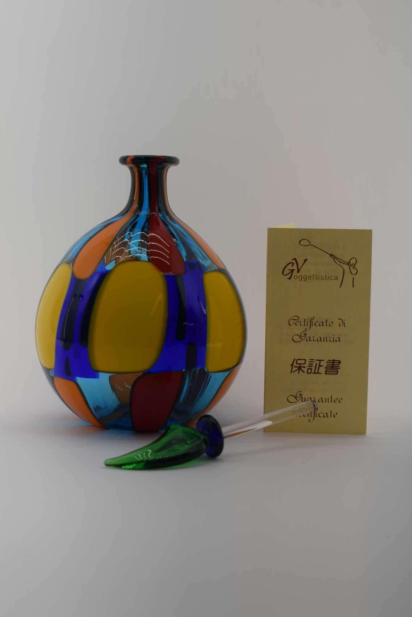 Пятнистая бутылка из муранского стекла - (Art. 13520)