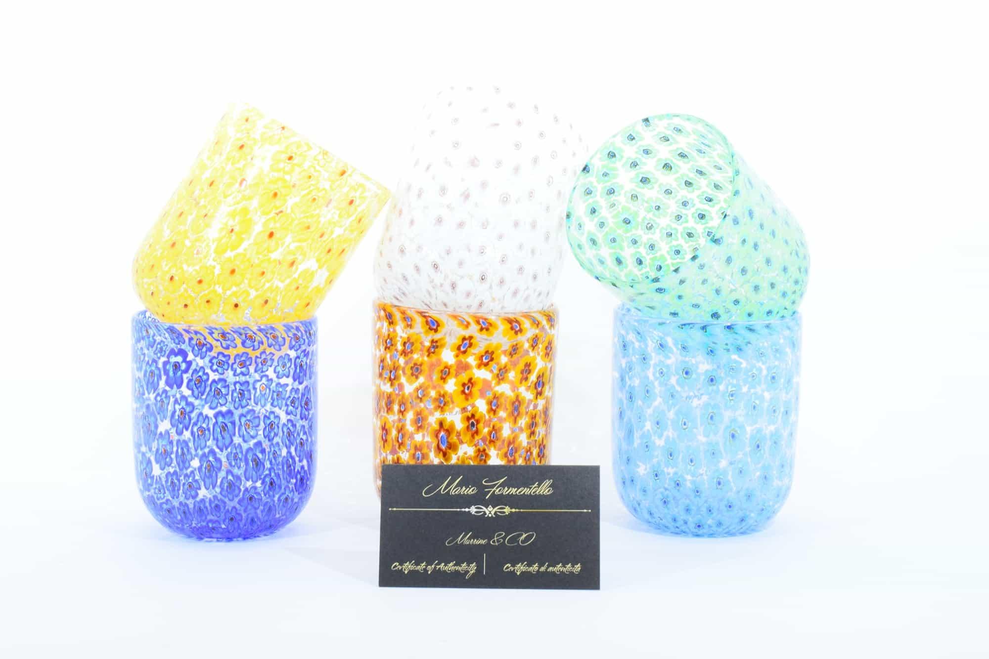 Набор бокалов из муранского стекла с муррином (Art. 36091)