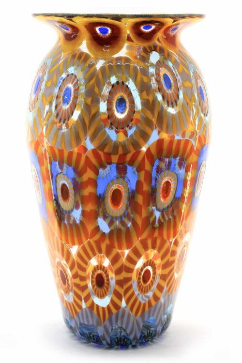 vase mit muranoglas murrine