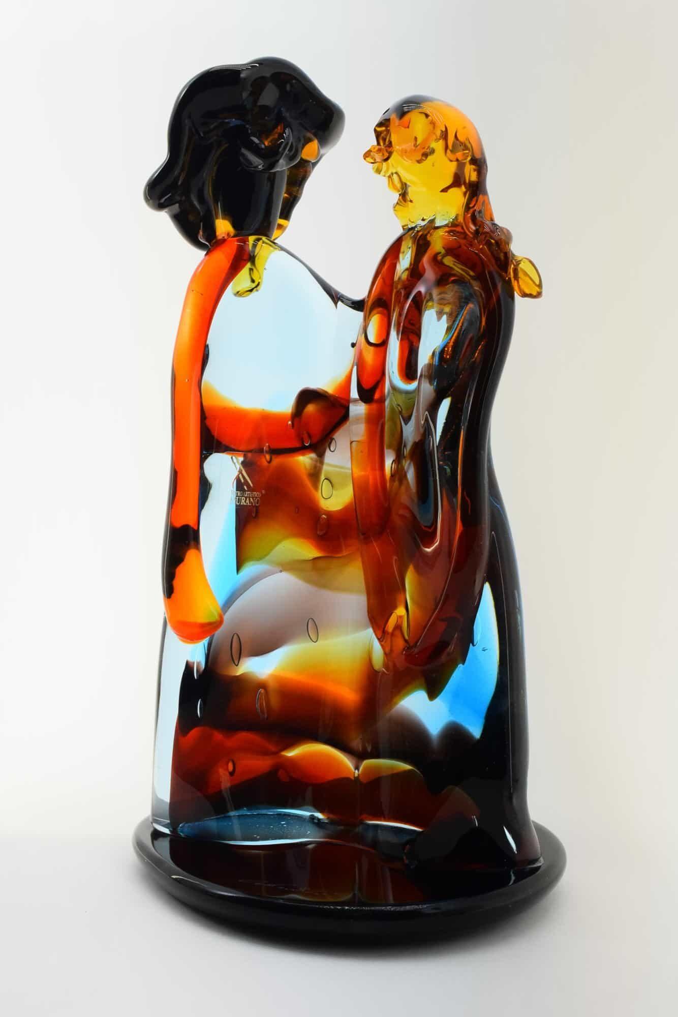 Murano Glass Lovers Sculpture - (Art. 36363)