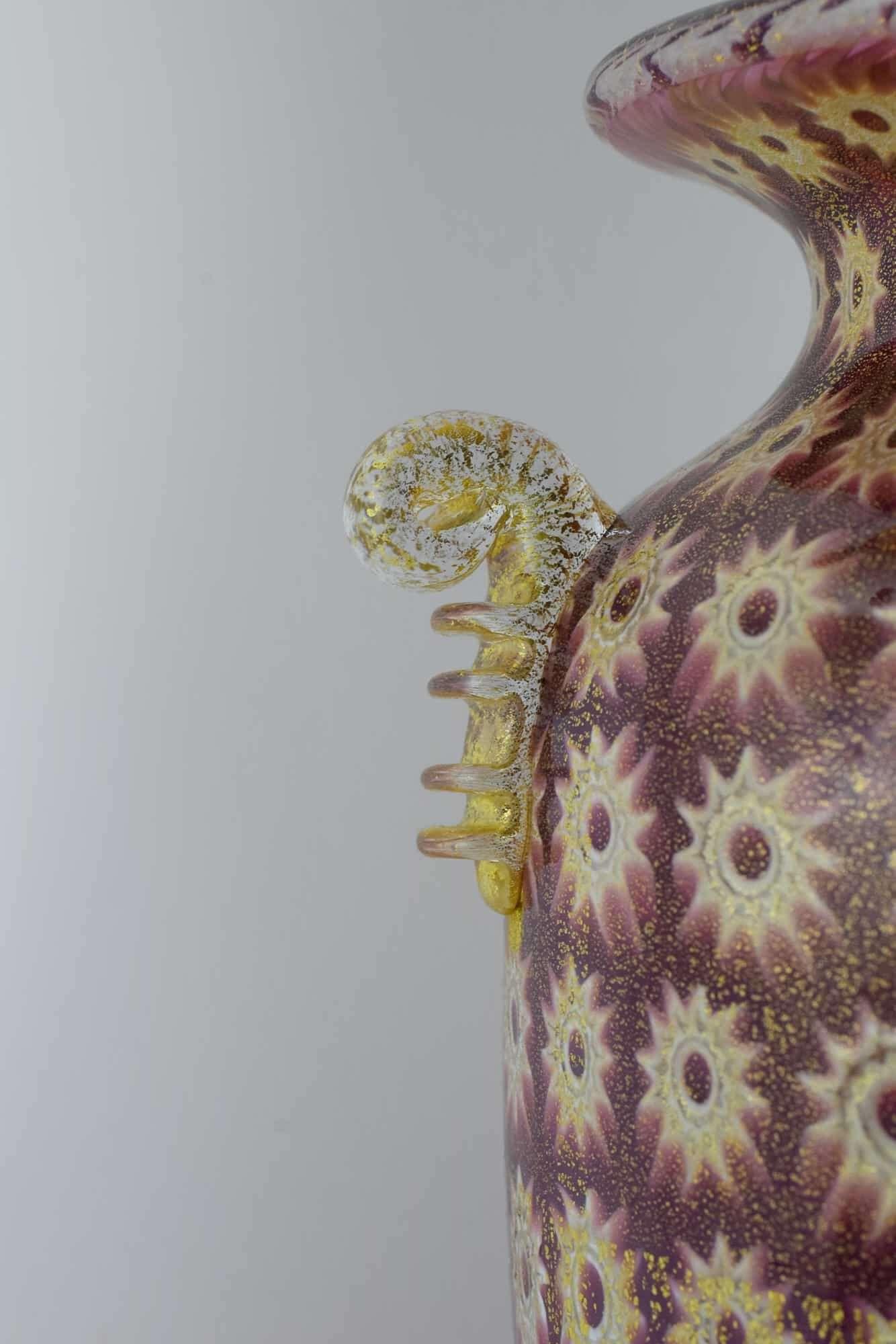 Amedeo Rossetto Murano Glas Murrina Vase - (Art. 36774)