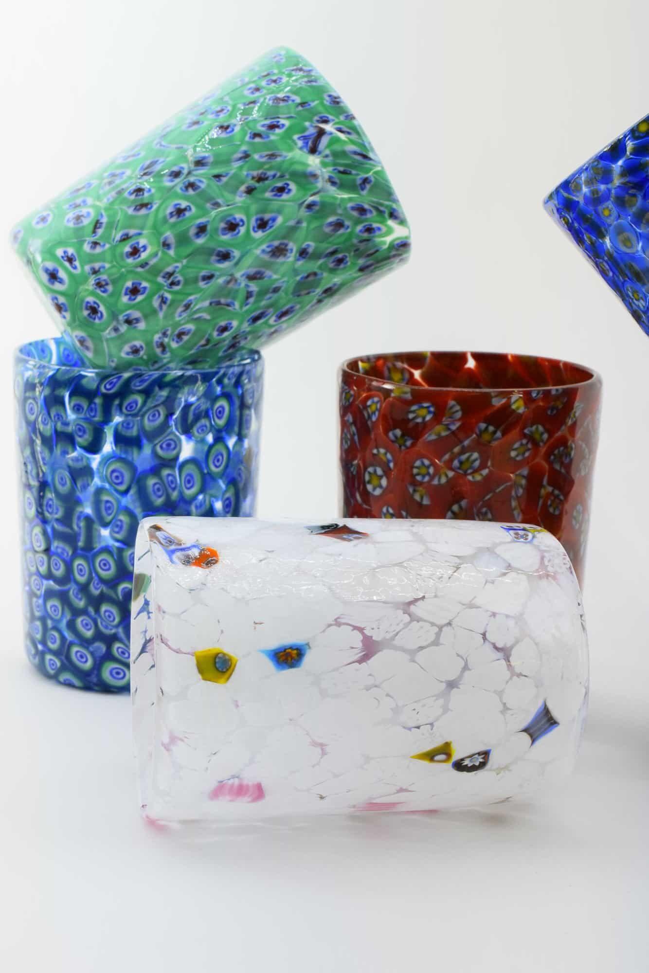 Набор бокалов из муранского стекла с муррином (Art. 36455)