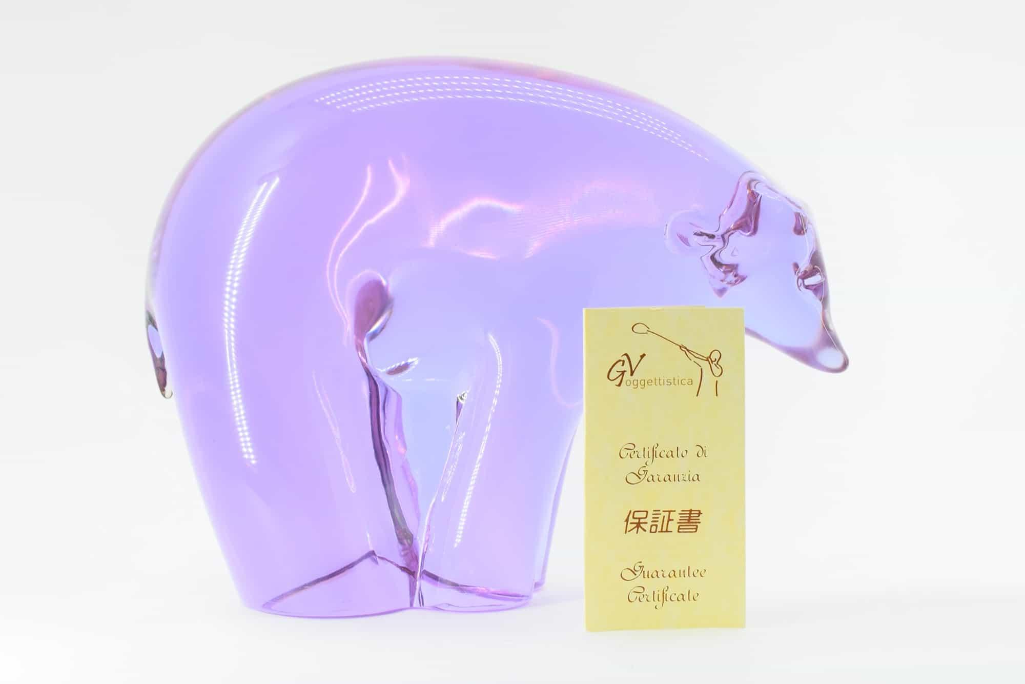 """Скульптура """"Медведь"""" из муранского стекла - (Art. 36738)."""