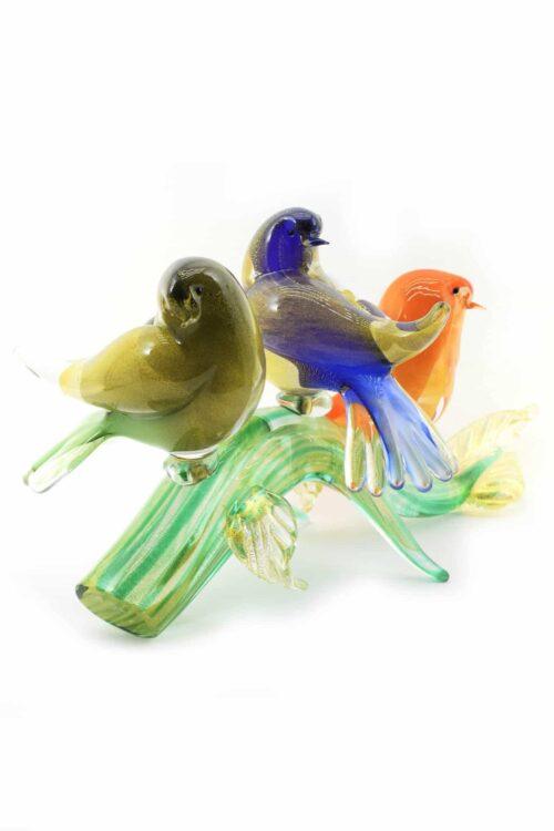 ветка с птицами из муранского стекла