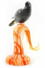 Zweig mit Vogel in Muranoglas