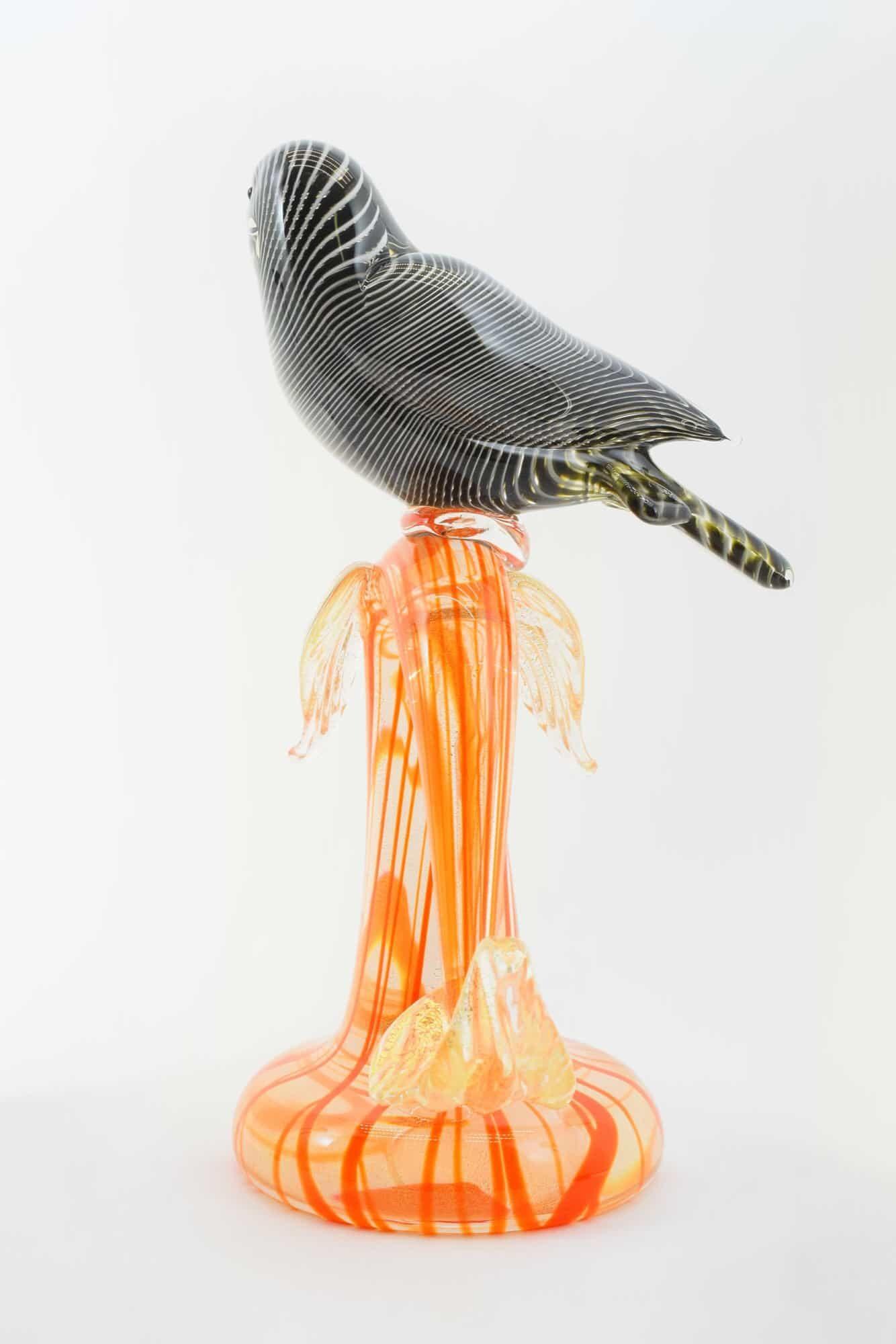 Zweig mit Taube aus Muranoglas - (Art. 36702)