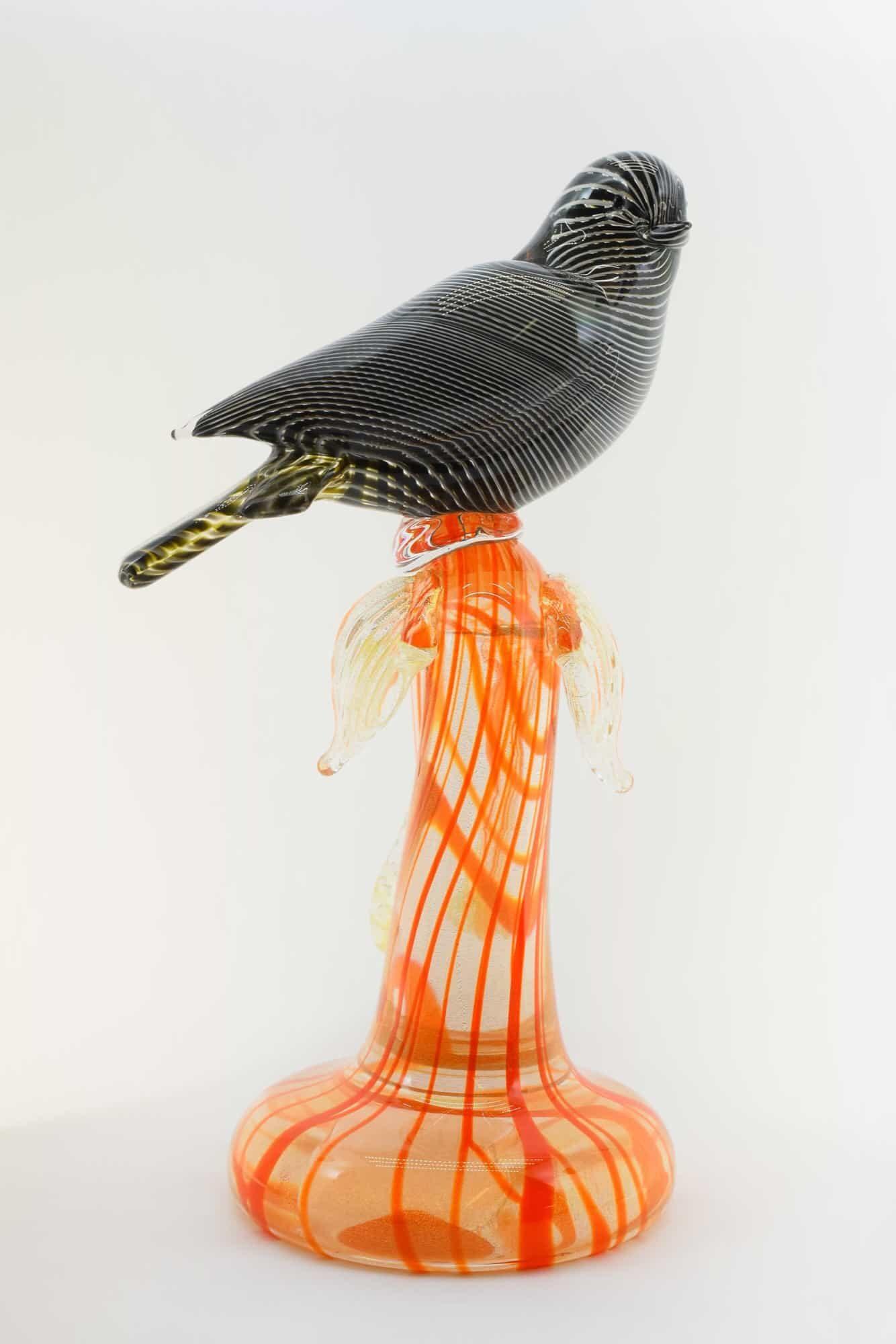 Веточка с голубем из муранского стекла - (Art. 36702)
