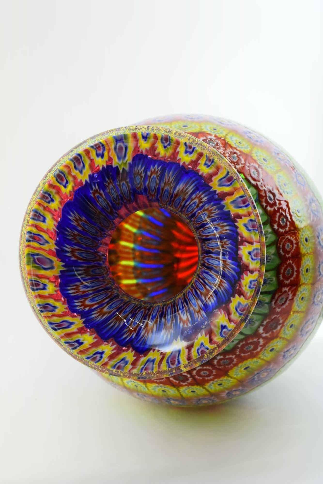 Ваза из мозаики Murrina из муранского стекла - (Art. 38196)