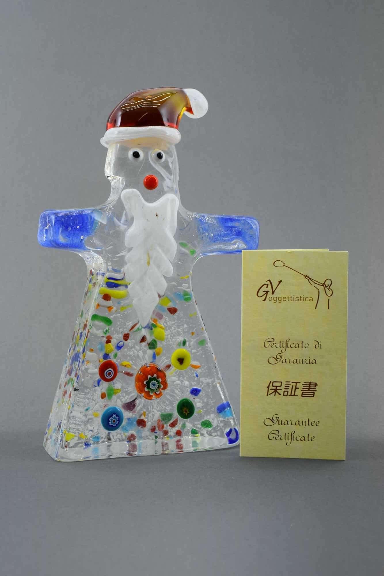Weihnachtsmann aus Muranoglas - (Art. 37191)