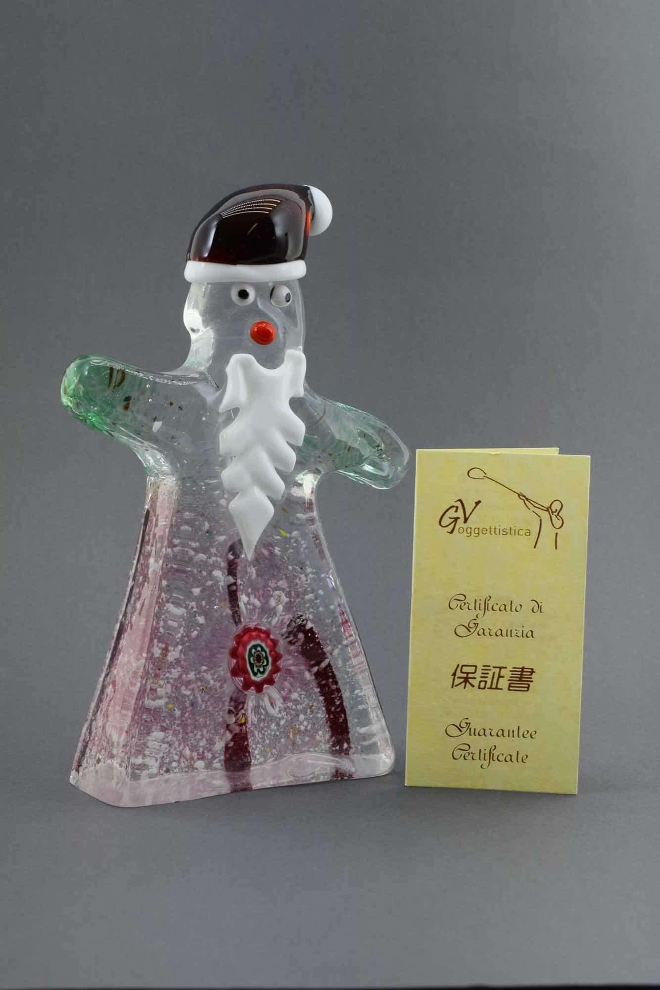 Weihnachtsmann aus Muranoglas - (Art. 37088)