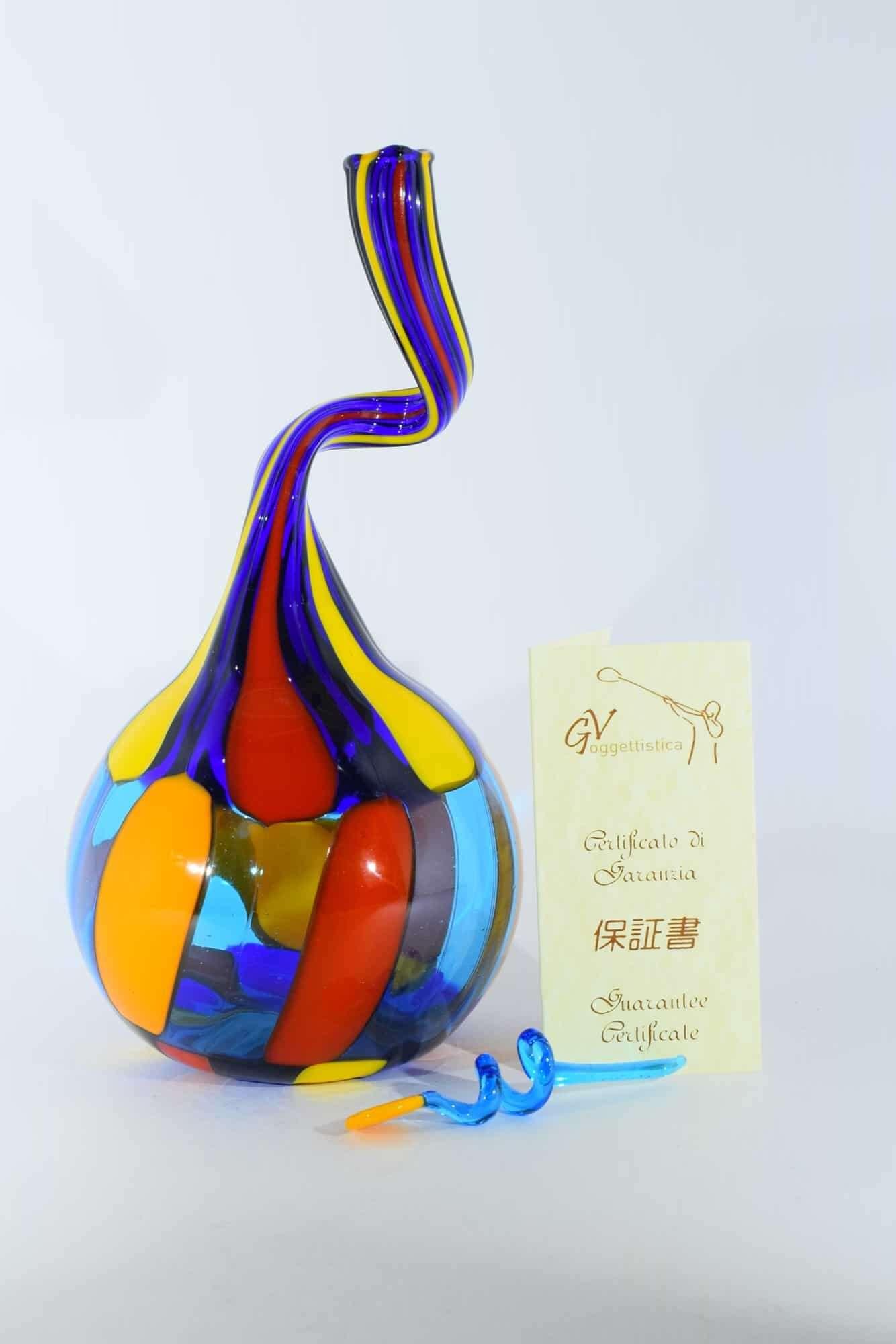 Пятнистая бутылка из муранского стекла - (Art. 13540)