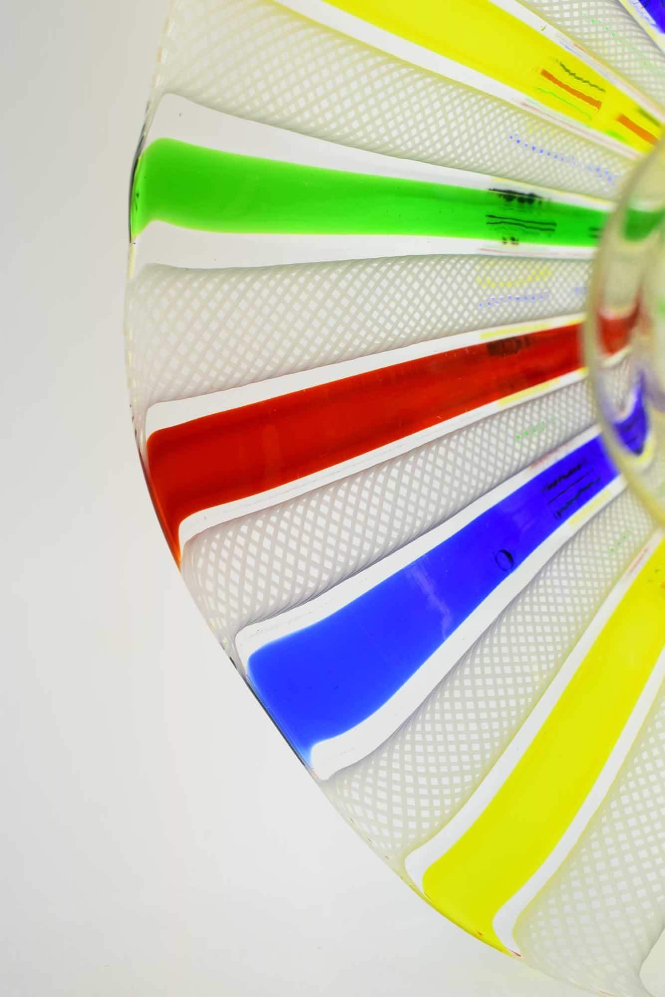 Murano Glass Reticel Candelabra (Art. 36877)