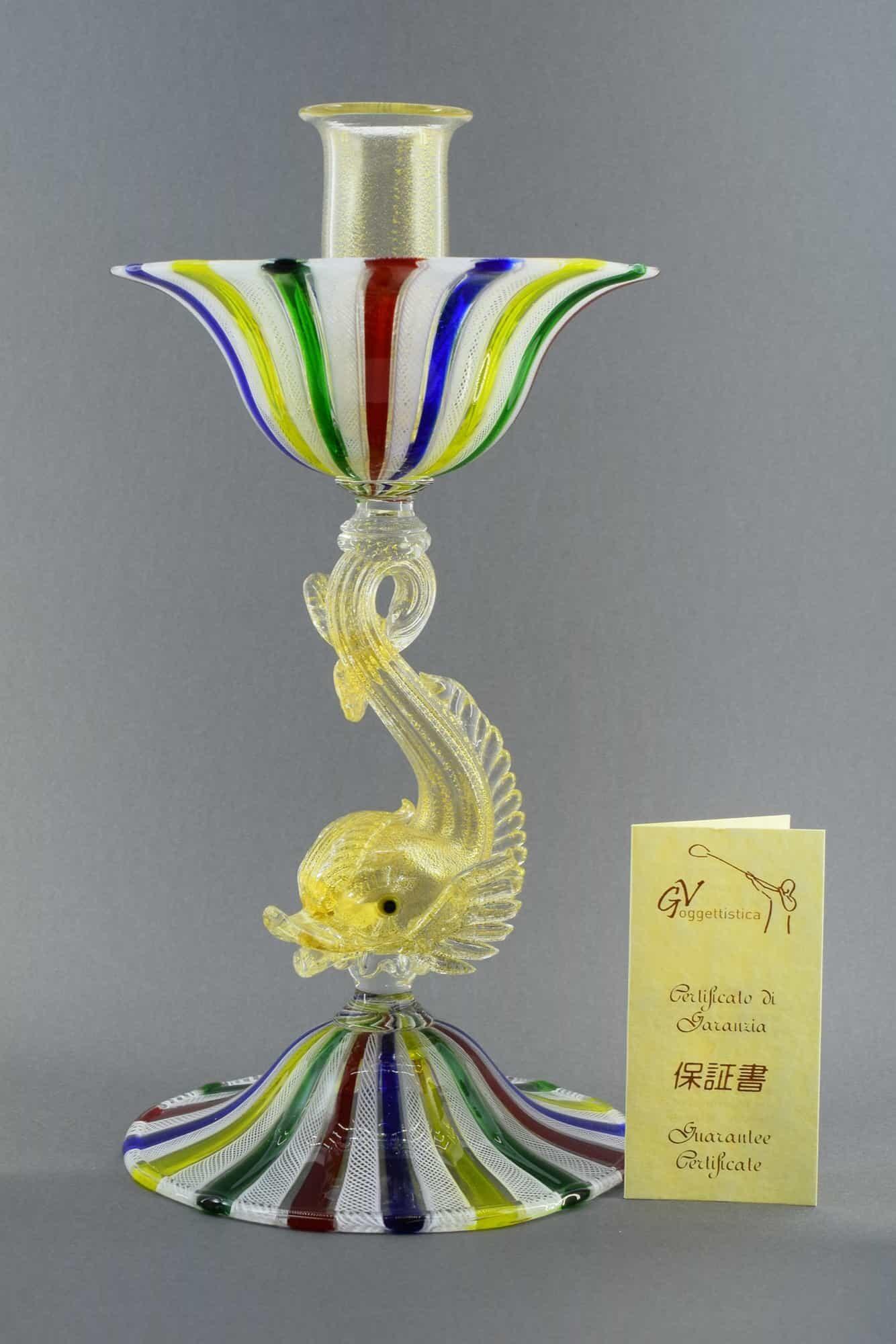 Канделябры с сеткой из муранского стекла (Art.36900)