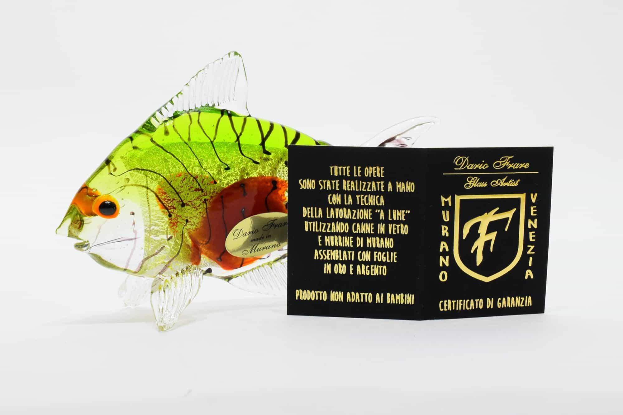 Tropischer Fisch aus Muranoglas - (Art. 37537)