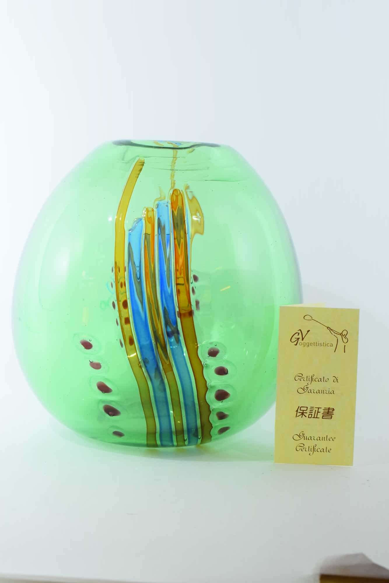 Anzolo Fuga 60er Muranoglas Vase - (Art. 37843)