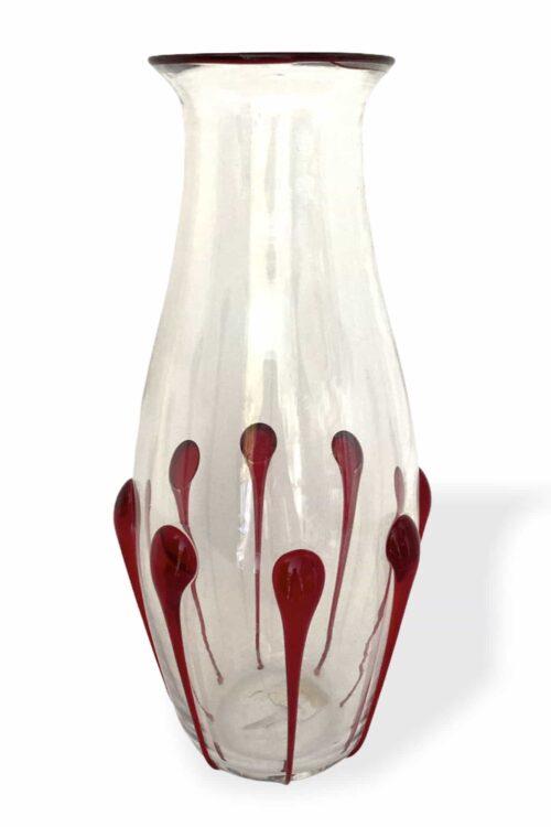 Vittorio Zecchin Tropfvase aus Muranoglas