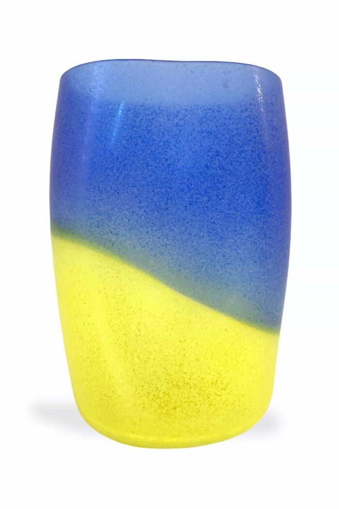 винтажная ваза для раскопок alfredo barbini из муранского стекла