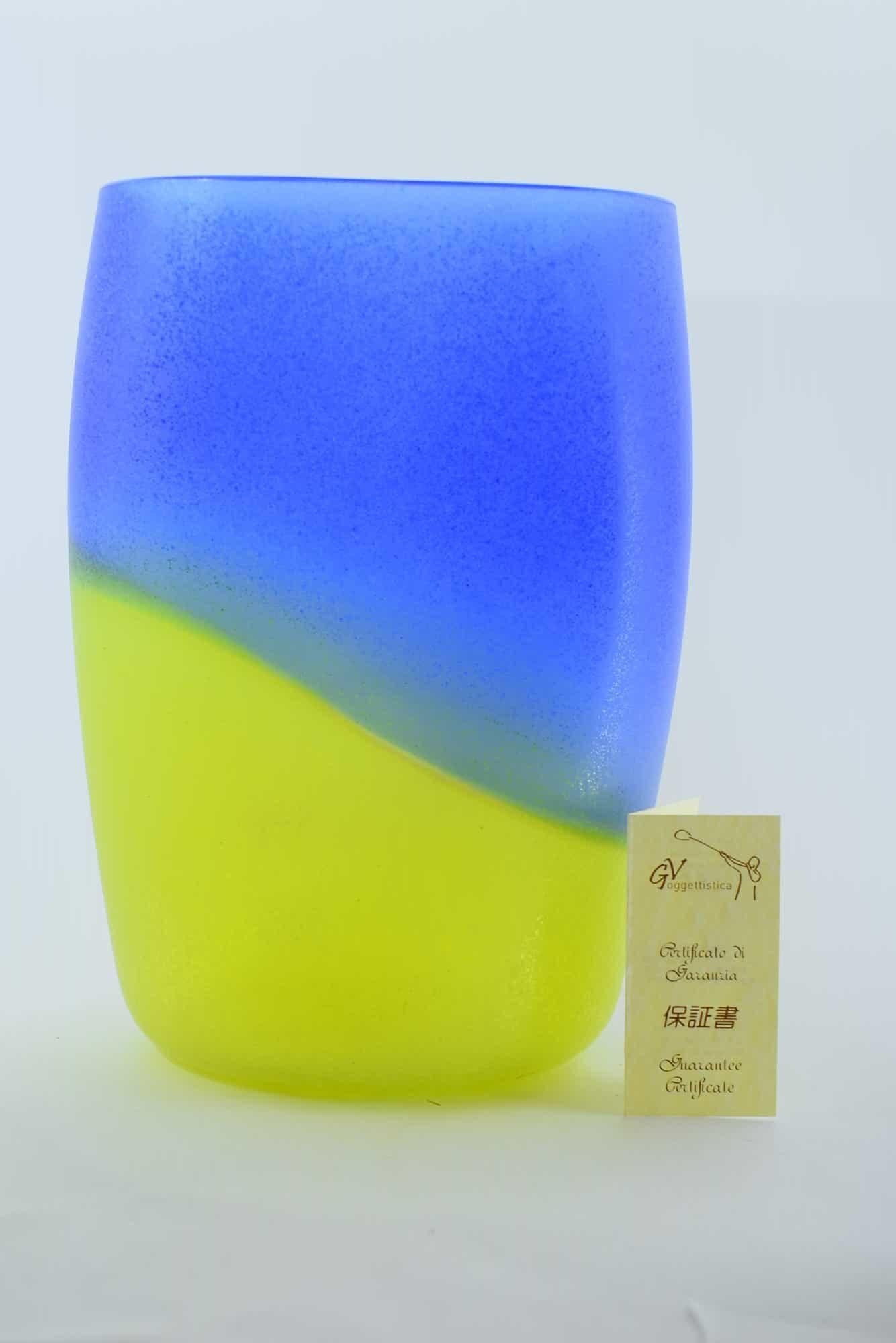 Альфредо Барбини ваза Scavo из муранского стекла 60-х годов (Art. 38761)