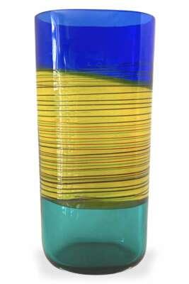 Barbini Alfredo Incalmo Vase aus Muranoglas
