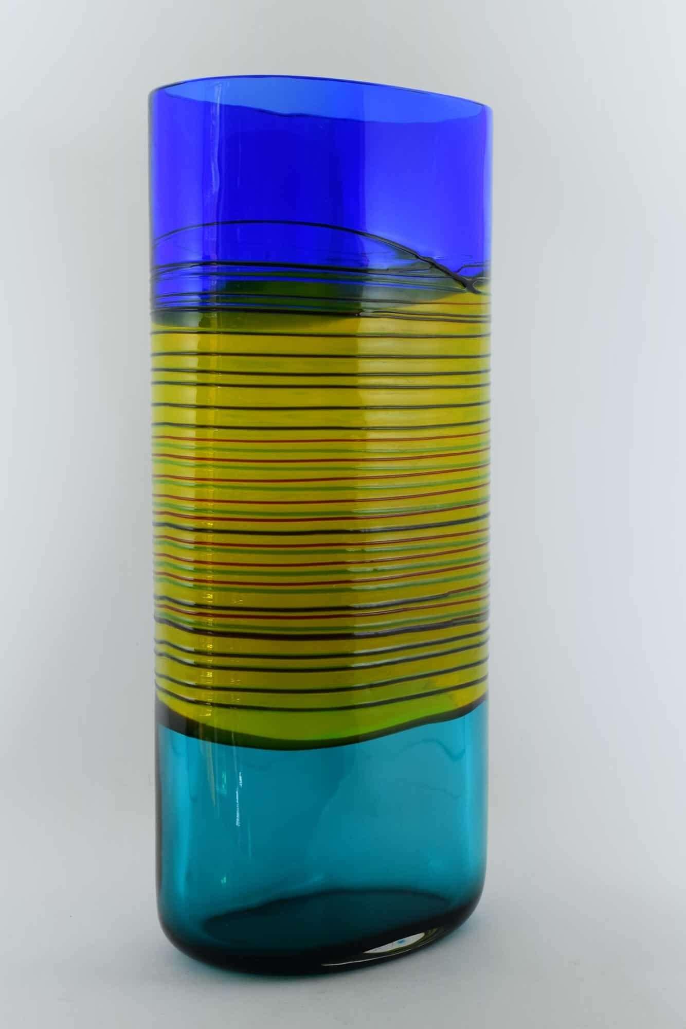 Alfredo Barbini Incalmo Murano Glasvase 70er (Art.38091)