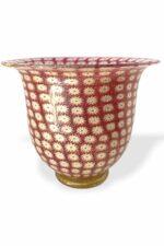 Rosa Murrine Vase aus Muranoglas
