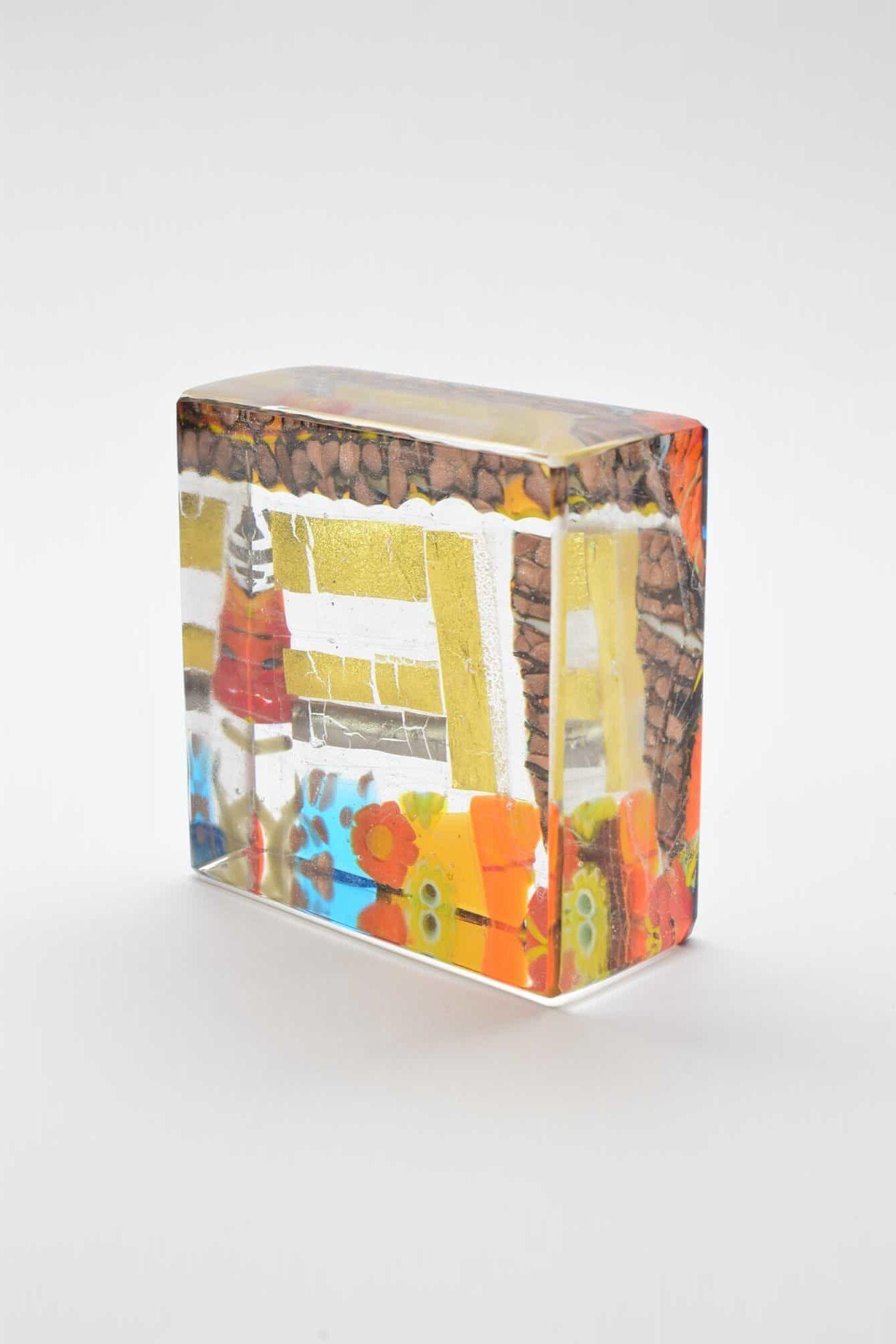 Пресс-папье с золотыми листами из муранского стекла (Art. 39029)