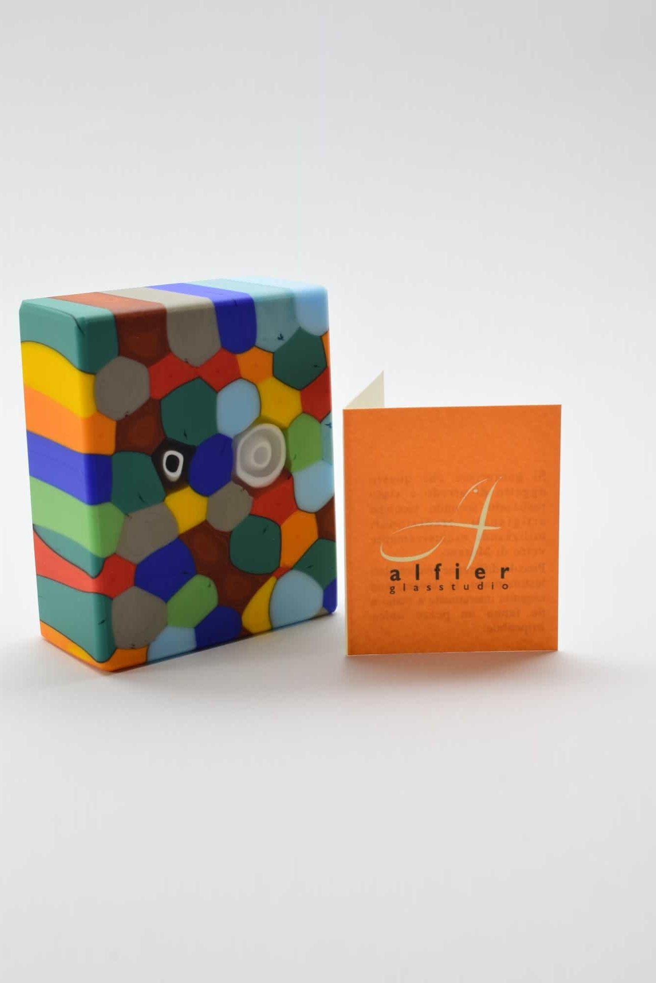 Briefbeschwerer aus Satin-Murano-Glas - (Art. 39041)