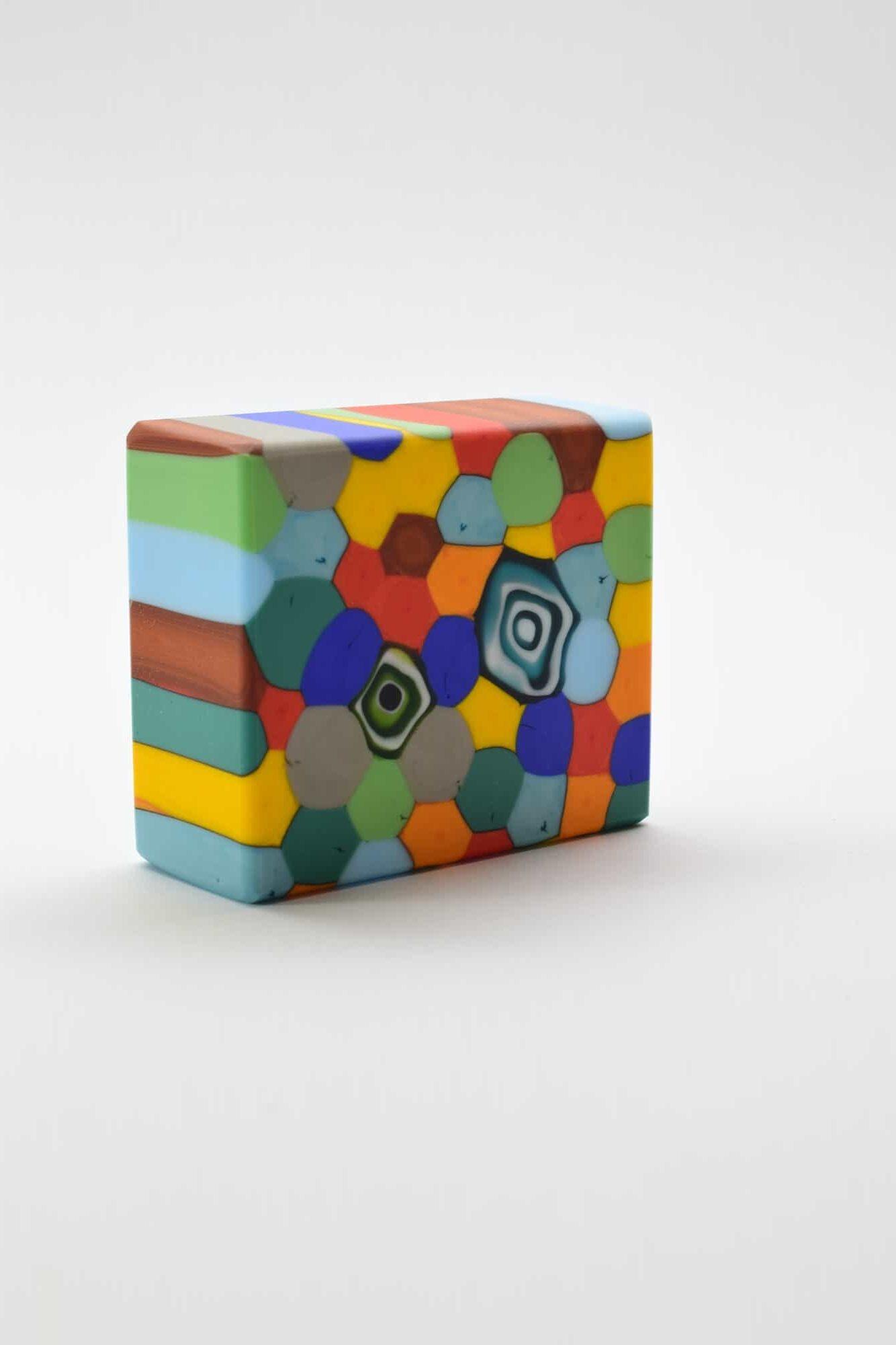 Briefbeschwerer aus Satin-Murano-Glas - (Art. 39054)