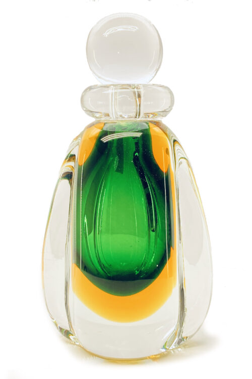 затопленная бутылка из муранского стекла
